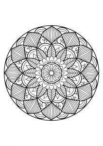 Mandala Livre Coloriage Gratuit 30 Coloriage Mandala Pinterest