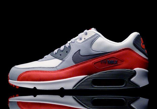nike air max 90 red grey