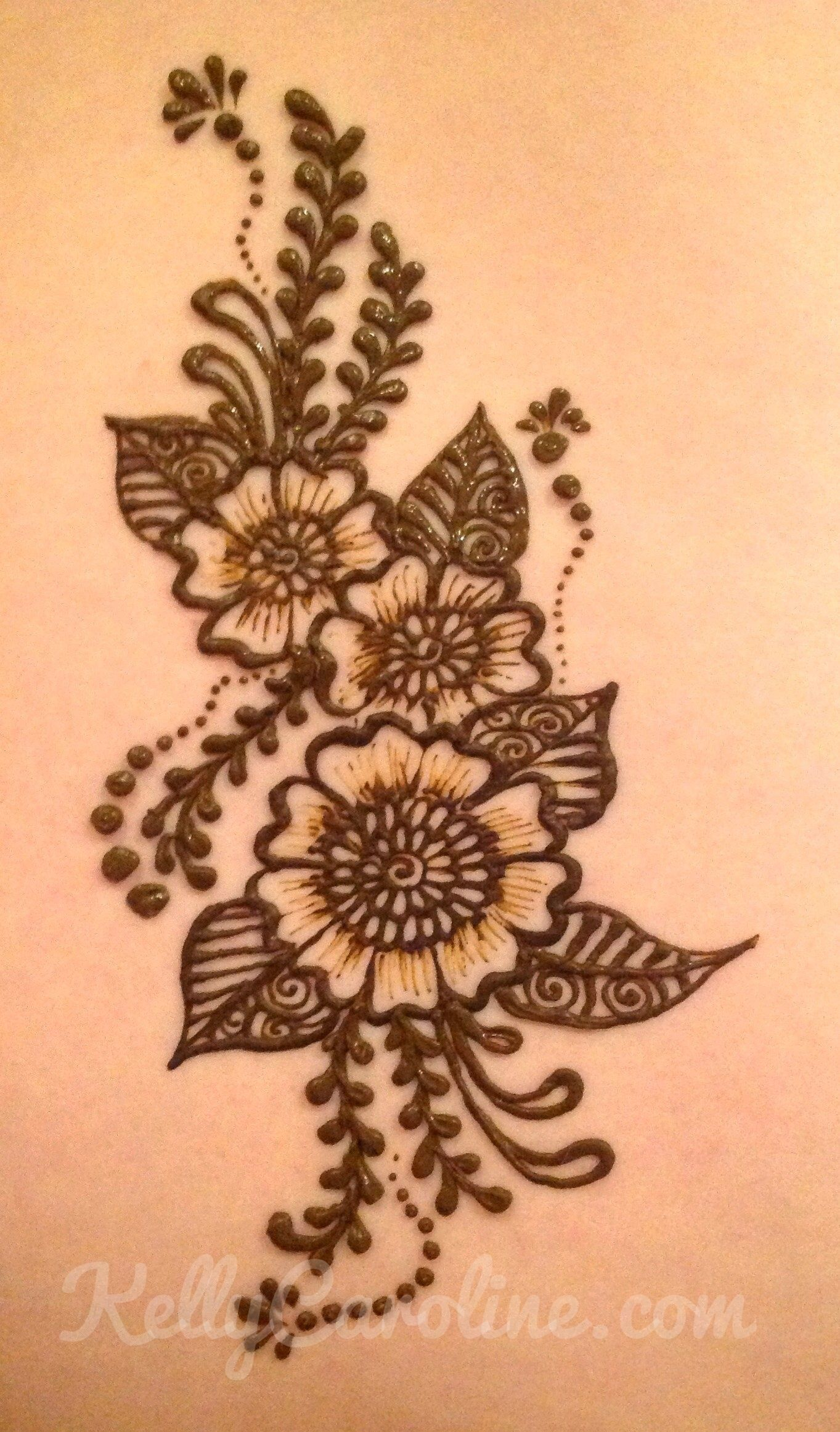 kelly caroline michigan henna tattoo artist henna flower tattoo c s d s pinterest. Black Bedroom Furniture Sets. Home Design Ideas