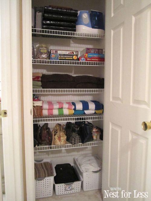 Organized Linen Closet Linen Closet Storage Front Hall Closet Linen Closet