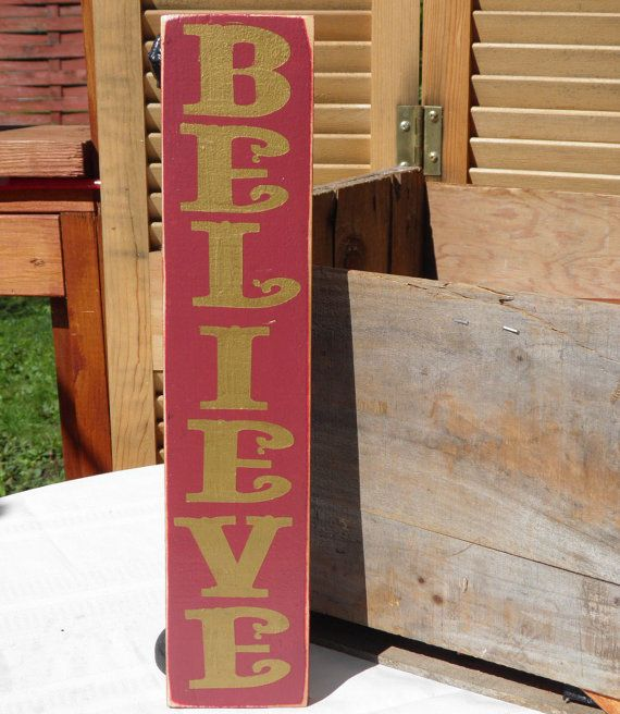 Pine Pallet Wood Christmas Sign Believe By Mycreativemagic