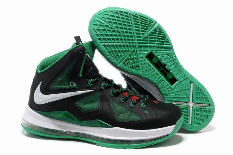 Hot Nike Lebron X 10 Black Green White Style 541100 300 Discount
