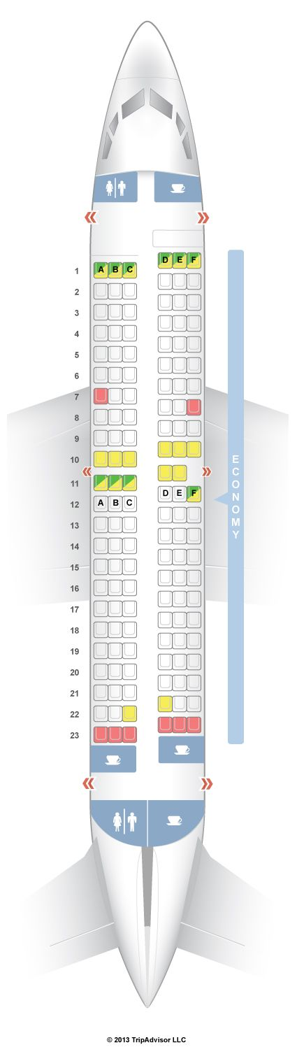 Southwest Seat Map SeatGuru Seat Map Southwest Boeing 737 300 (733) V2 | Travel tips  Southwest Seat Map
