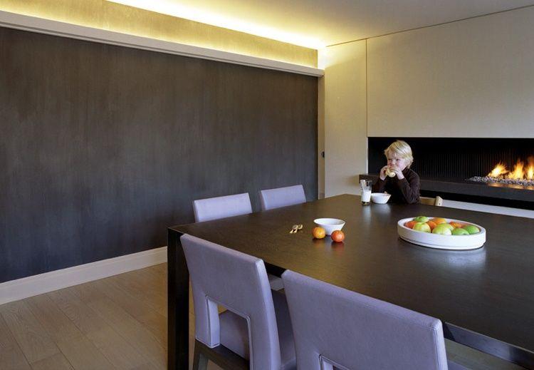 Indirektes Licht An Der Wand Zur Decke Gerichtet