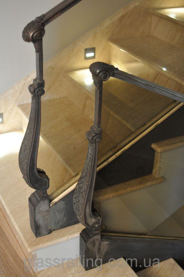 Стеклянное ограждение лестницы в частном доме. Новости компании «GlassRailing»