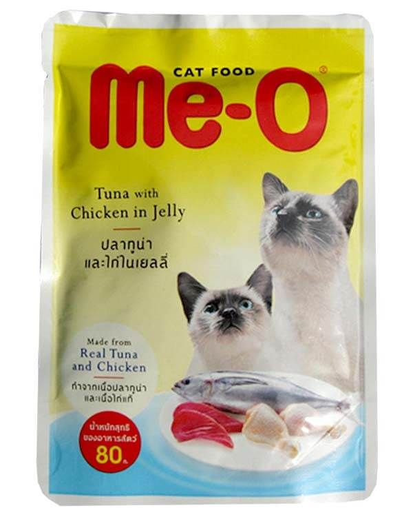 Me O Tuna With Chicken In Jelly 80g Kitten Food Brands Cat Food Brands Cat Food