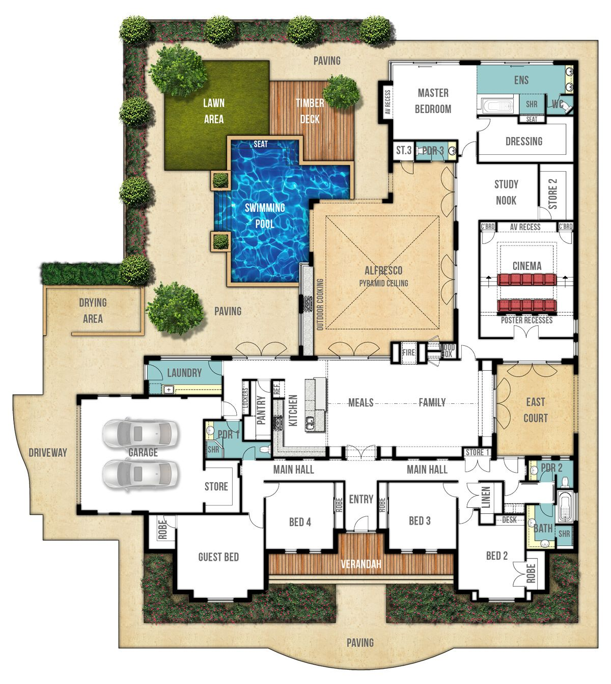 Single storey home design plan the farmhouse by boyd for Create your house plan