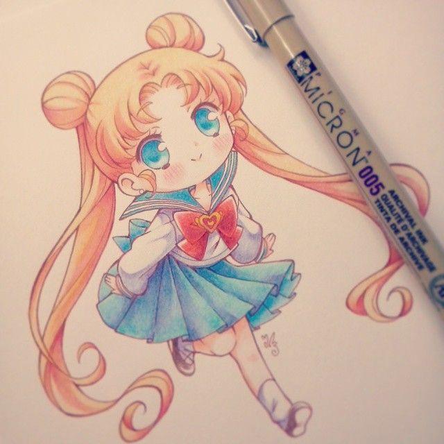 "Ibu, Ivui, Eevee🌠🌠🌌 on Instagram: ""I love sailor moon n.n #Serenatsukino #usagitsukino #sailormoon #seifuku #fanartby_ibu_chuan�"