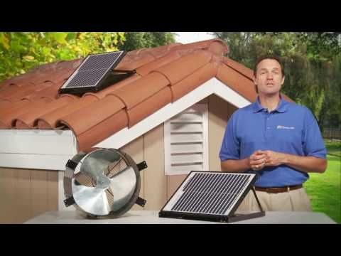 Sunfan All Purpose Ventilator Perfect For Tile Roofs And Crawl Spaces 10 Watt Solar Attic Ventilator 325 Crawlspace Solar Gable Fan Attic Ventilation