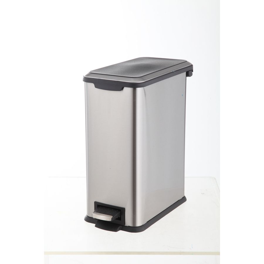 style selections 8-liter stainless steel commercial trash