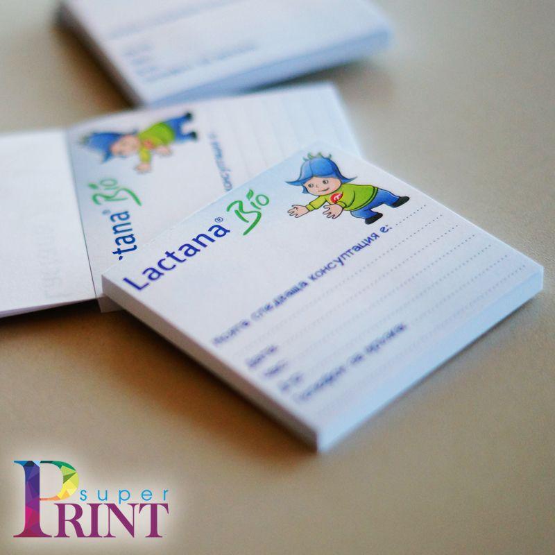 Кубчета за бележки, печат на кубчета за бележки, кубчета с листчета, листовки, блокнотове, нотпад, печатни материали, рекламни материали, дигитален печат