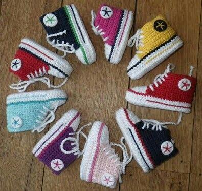 Professionel große Auswahl Wählen Sie für authentisch Convers | Örgü | Crochet Baby Shoes, Baby knitting und ...