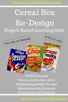 6th Grade Math Cereal Box Project