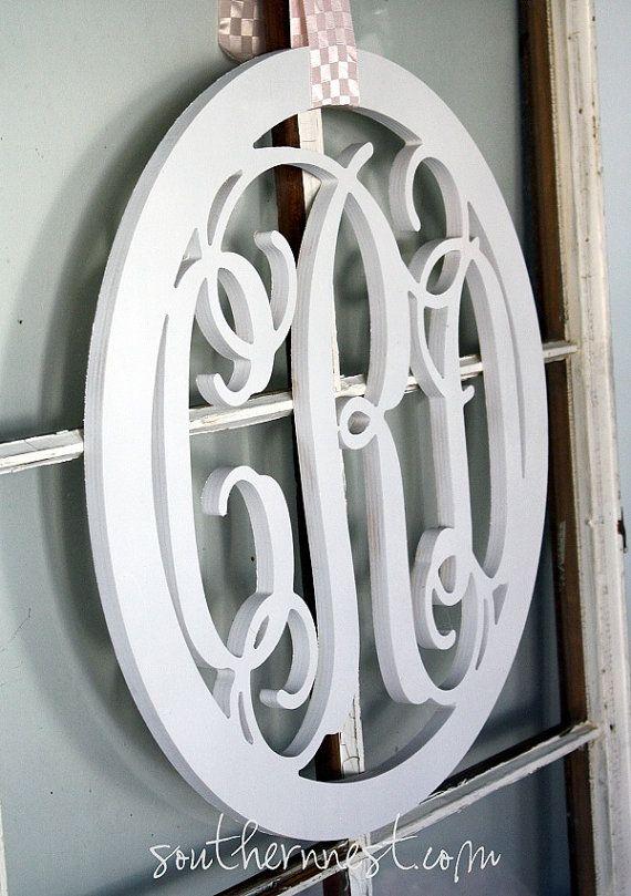 cute!  Monogram instead of a wreath