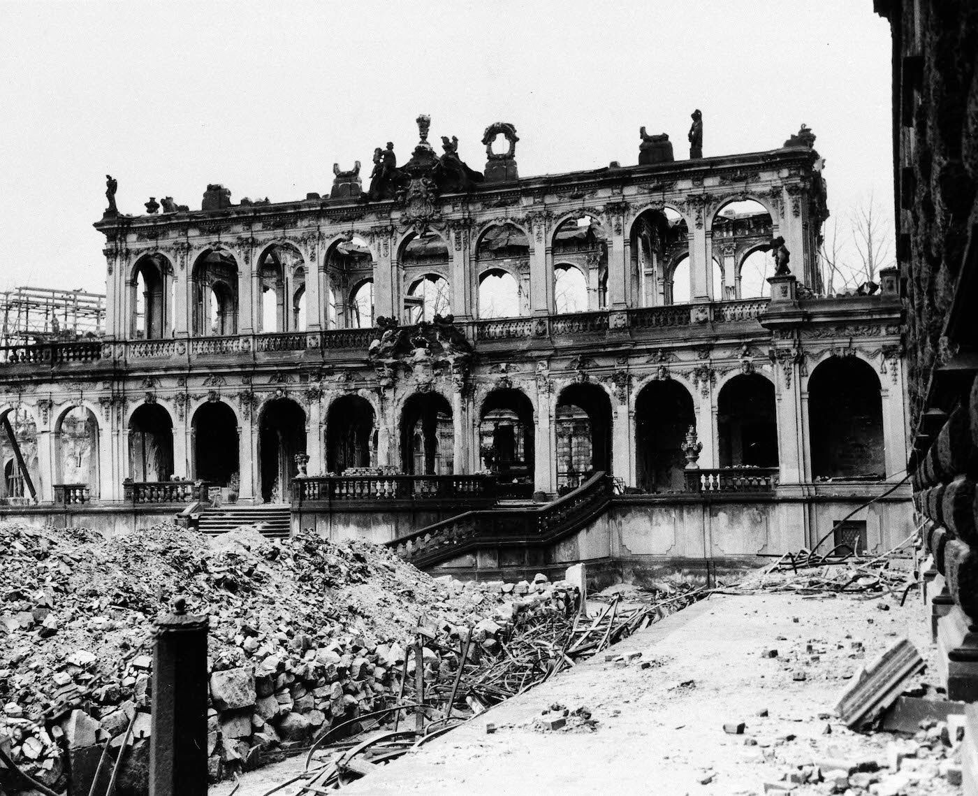 Zwinger Palace 1945 Dresden Dresden Bombing Dresden Germany Dresden