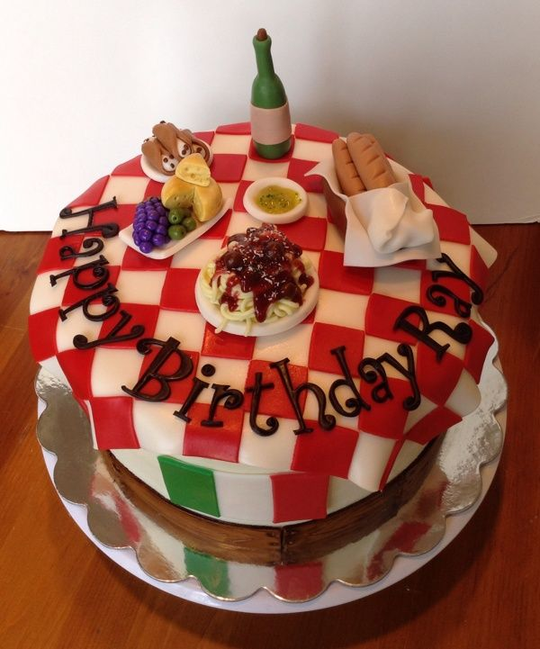 Brilliant Italian Themed Cake By Amy Dasher Via Behance Birthday Cake For Personalised Birthday Cards Beptaeletsinfo