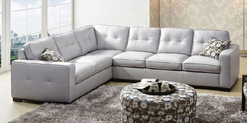 Grey Leather Sectional Sofa Grey Leather Sectional Leather Sofa