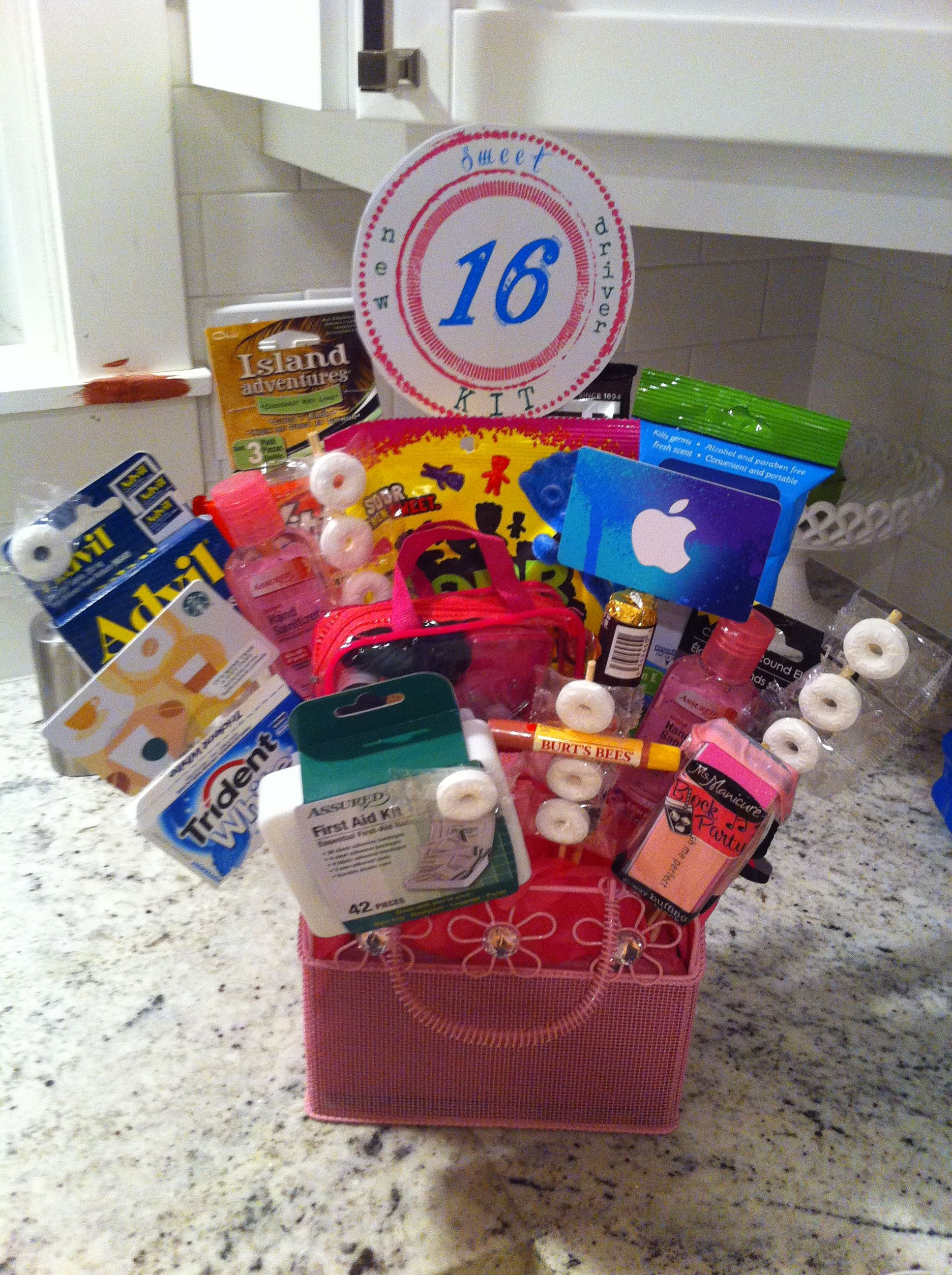 Great way to celebrate sweet 16 new driver gift bouquet