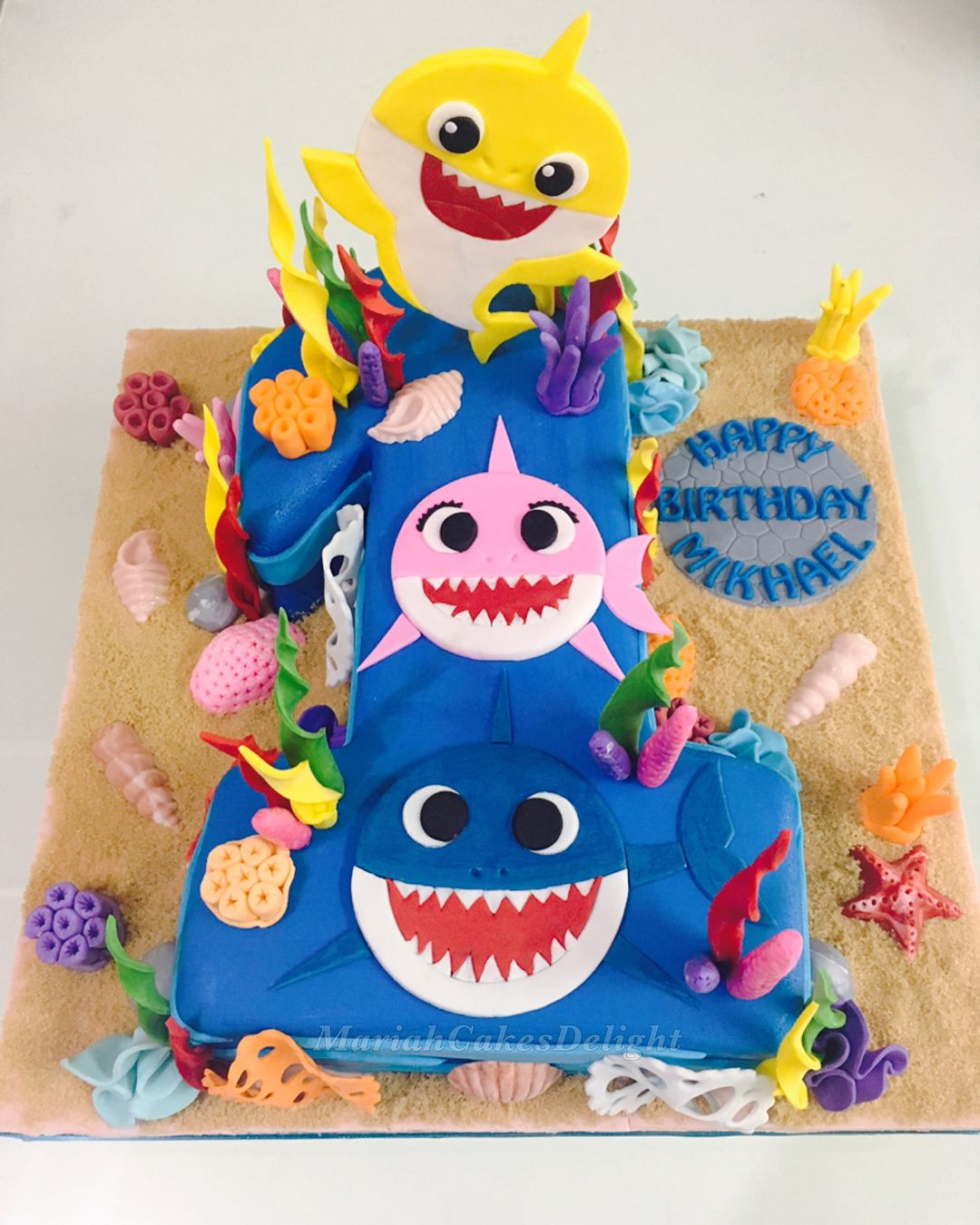 Image result for baby shark cakes (With images) Baby boy