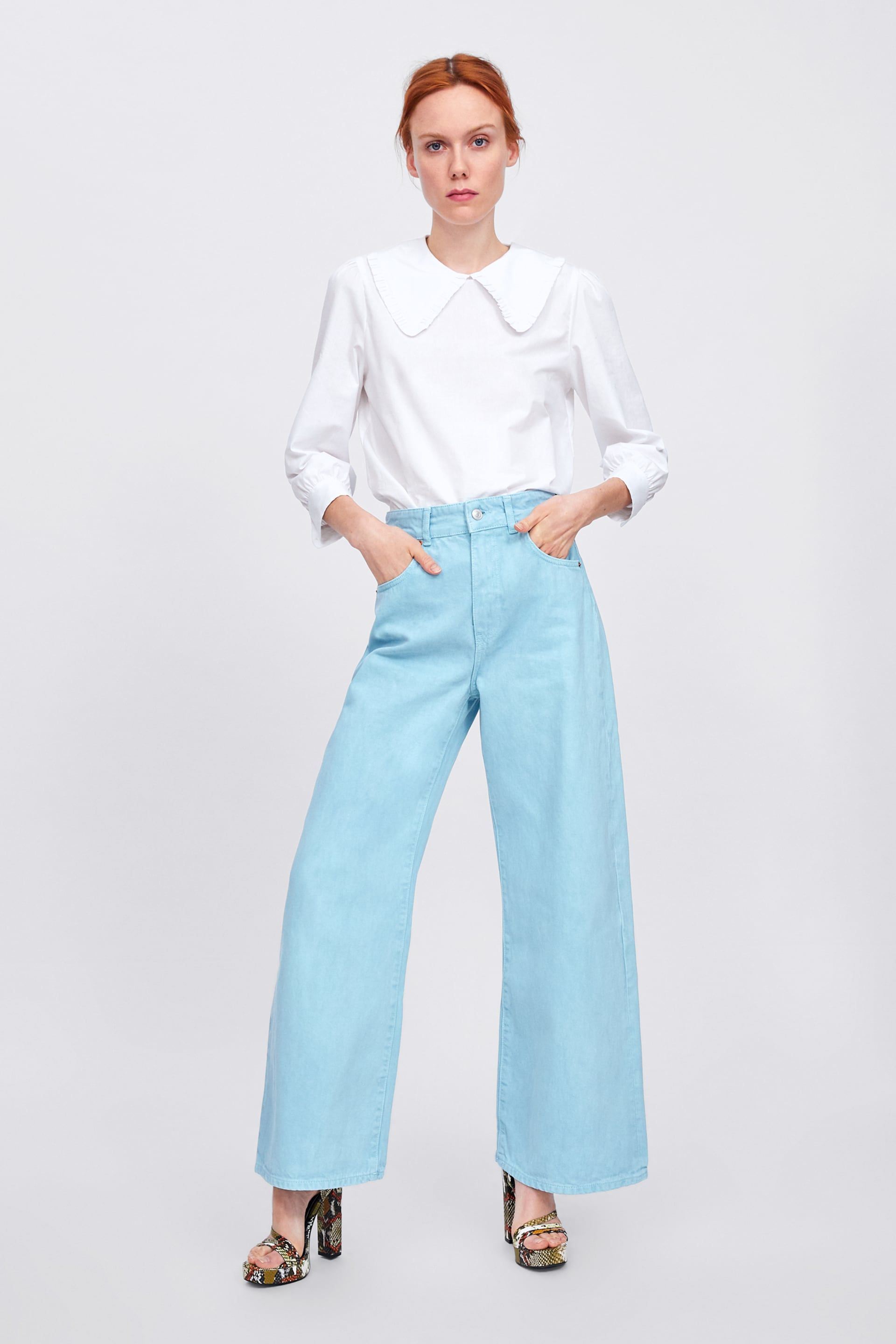 Zw Premium Marine Straight Jeans In Mellow Blue View All Jeans Woman Zara United States Straight Jeans Fashion Moda Fashion