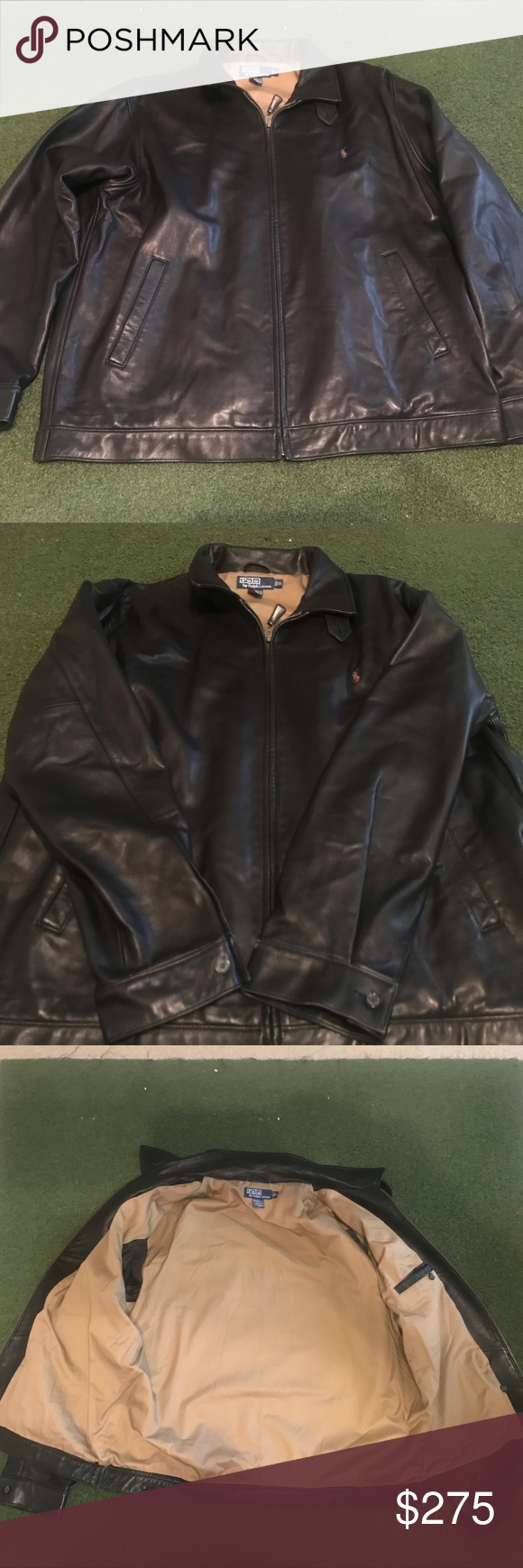 Polo Ralph Lauren Men S Xl Lambskin Leather Jacket Lambskin Leather Jacket Polo Ralph Lauren Mens Leather Jacket [ 1740 x 580 Pixel ]