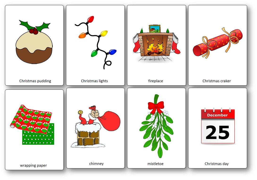 Noel Anglais Flashcards sur le thème de Noël en anglais   Noel anglais
