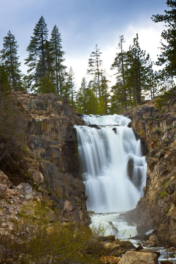 Webber Falls California. Waterfall in Northern California