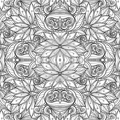Seamless Monochrome Floral Pattern Vector Stock Photos, Images, & Pictures – (6,981 Images) - Page 2