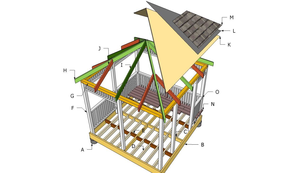 How To Build A Gazebo Howtospecialist How To Build Step By Step Diy Plans In 2020 Gazebo Plans Gazebo Roof Diy Gazebo