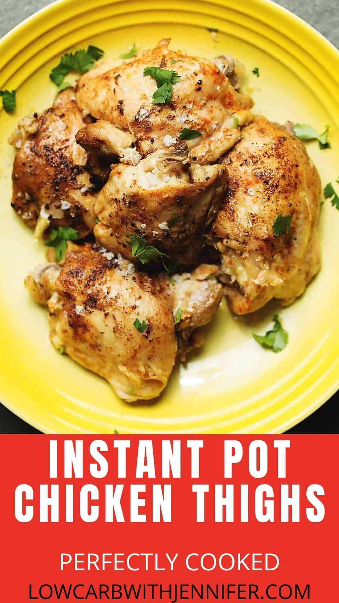 Instant Pot Chicken Thighs Are So Easy To Make Tender And Full Of Flavor I U In 2020 Instant Pot Recipes Chicken Skinless Chicken Recipe Instant Pot Dinner Recipes
