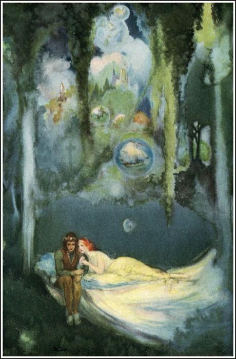 *Willy Pogany (1882-1955) - Illustration pour le Tannhäuser de Richard Wagner