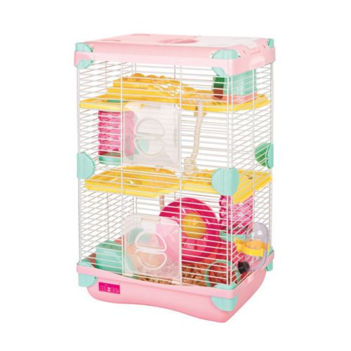 Combo Alice Adventureland Dwarf Hamster Cage Fun Platform Mineral Stone Small Animal Cage Pet Cage Small Pets