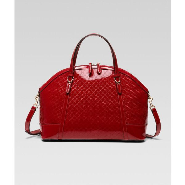 Gucci Nice Large Microguccissima Patent Leather Top Handle Bag Red 3 400