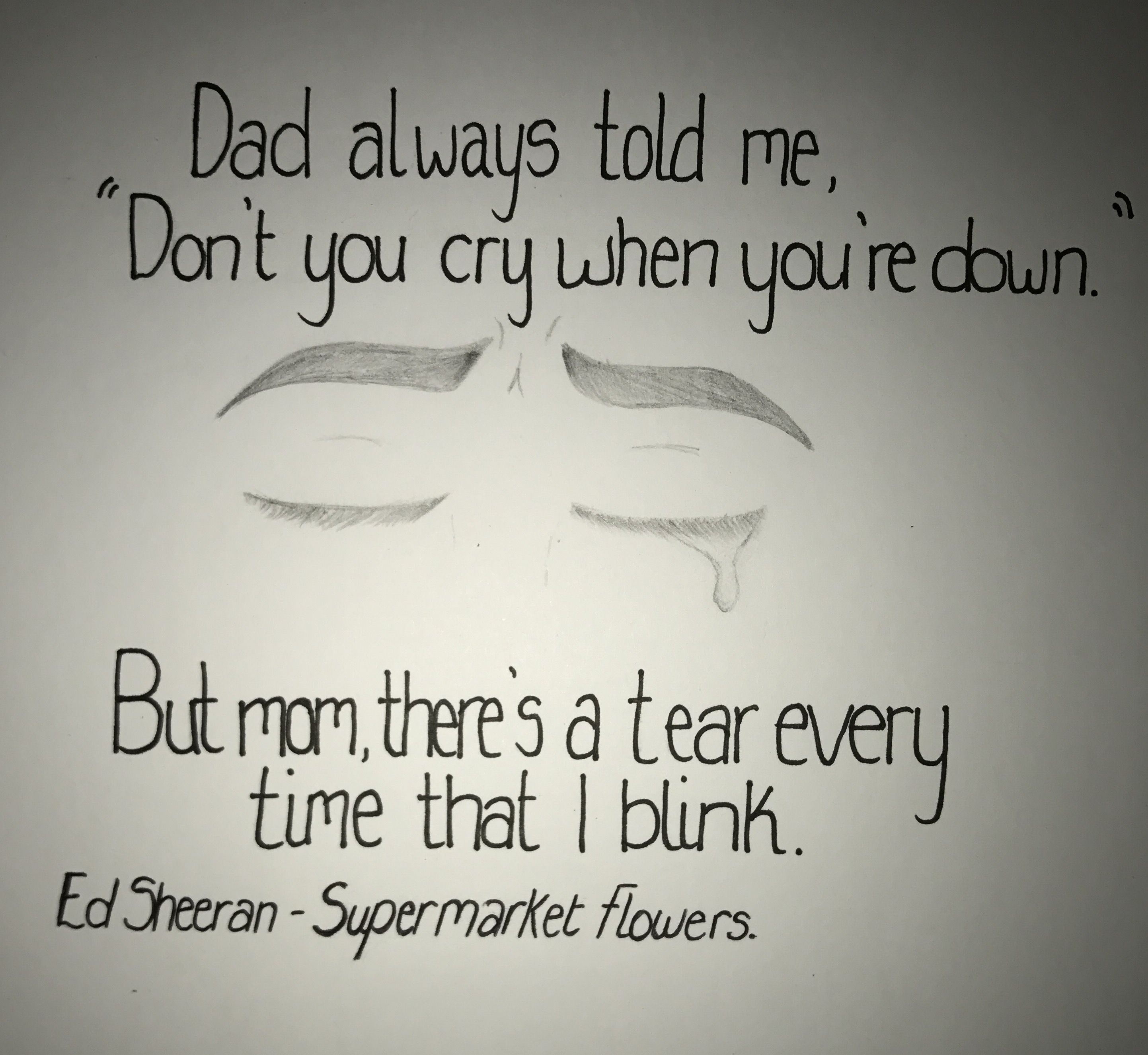 Supermarket Flowers Ed Sheeran Ed sheeran lyrics, Song
