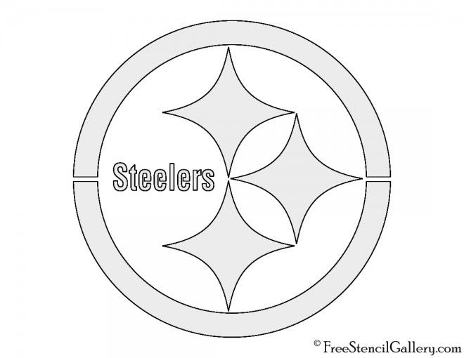 NFL Pittsburgh Steelers Stencil More | cheer | Pinterest