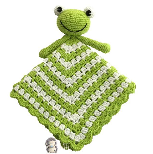 Manta de apego ranita a crochet | bebes | Pinterest | Ranas, Manta y ...