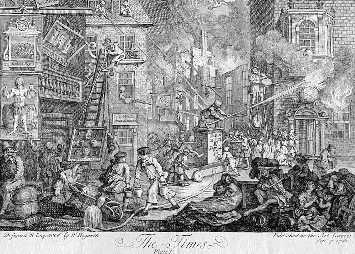 A Political Cartoon From William Hogarth C 1762 In