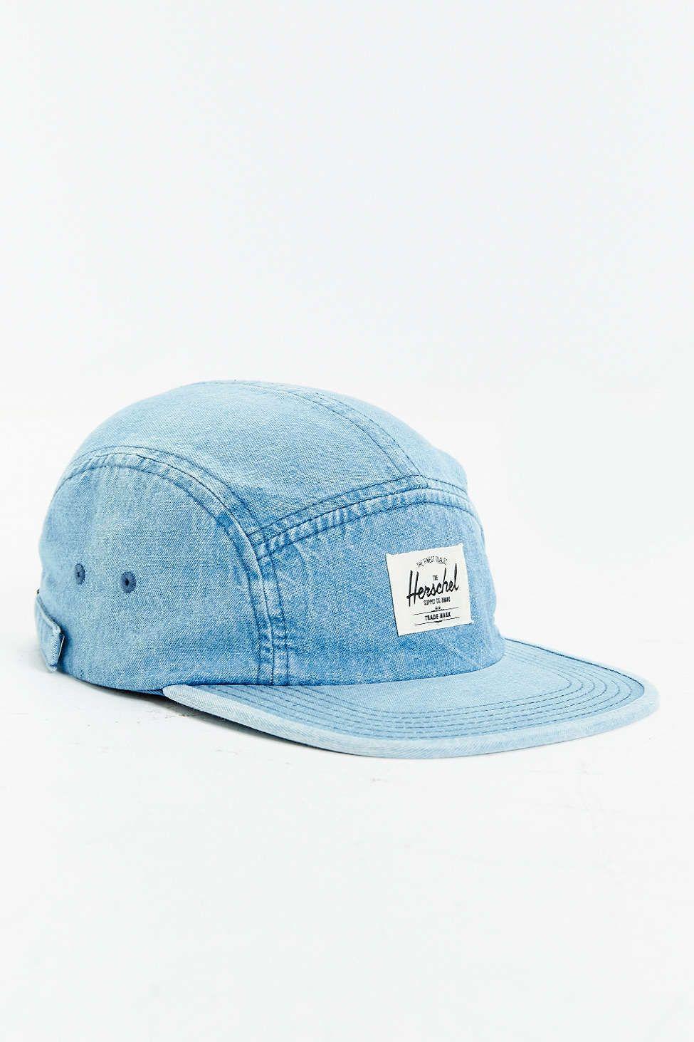 Herschel Supply Co. Glendale Faded Denim 5-Panel Baseball Hat ... 7cfeaaf2718
