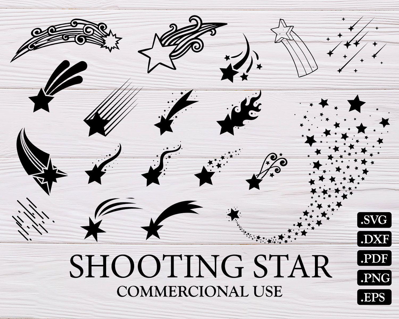 Shooting Star Svg Star Svg Shooting Star Shooting Stars Svg Star Clipart Star Silhouette Svg Files Shooting Star Vector Stars Svg Card Making Star Svg