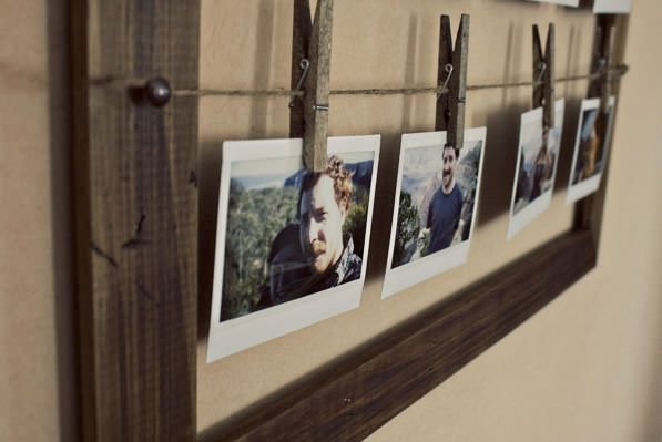 Picture Frame With Clothespins Image collections - origami ...