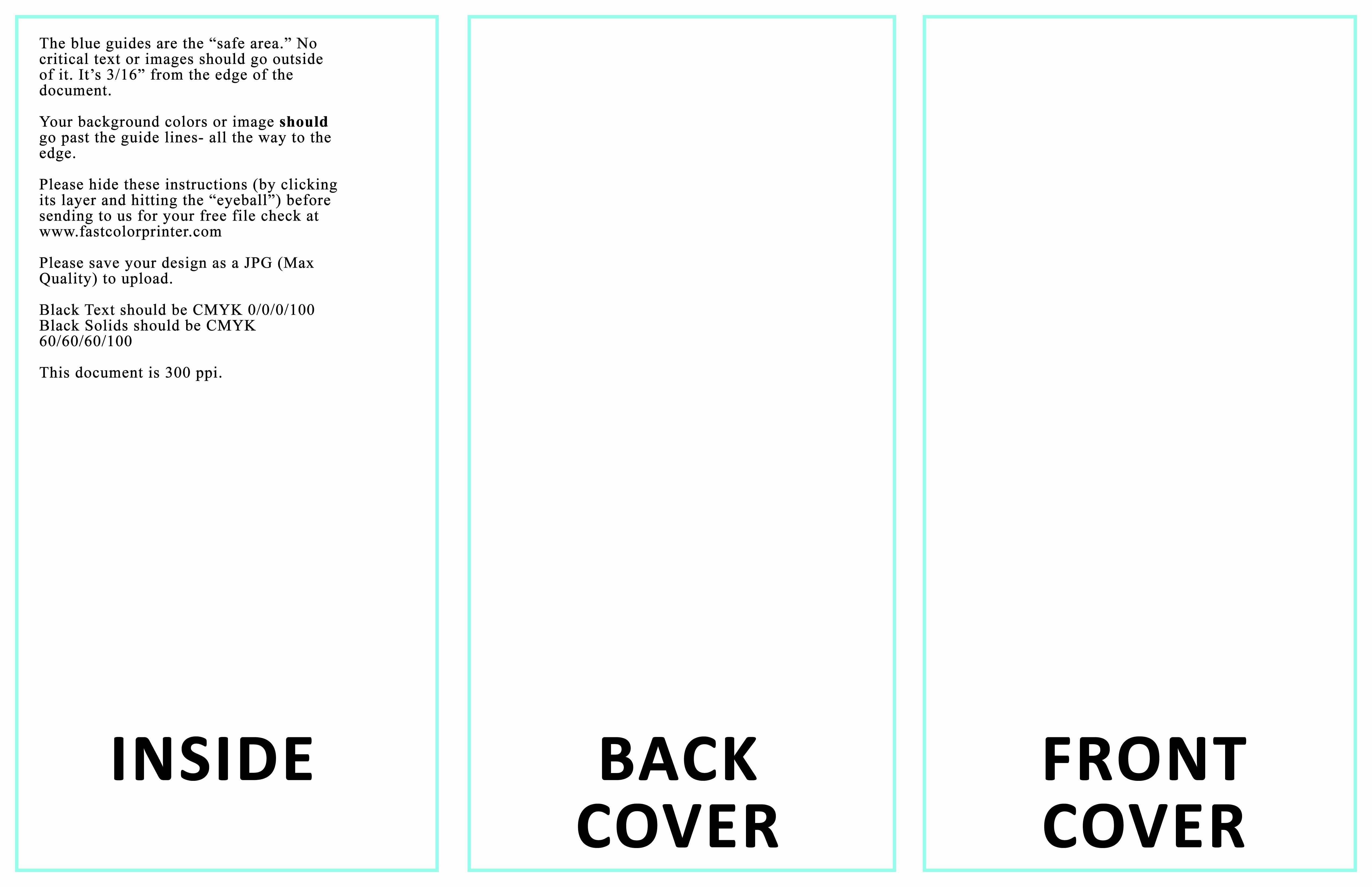 50 Awesome Tri Fold Card Template Free in 2020 Pamphlet
