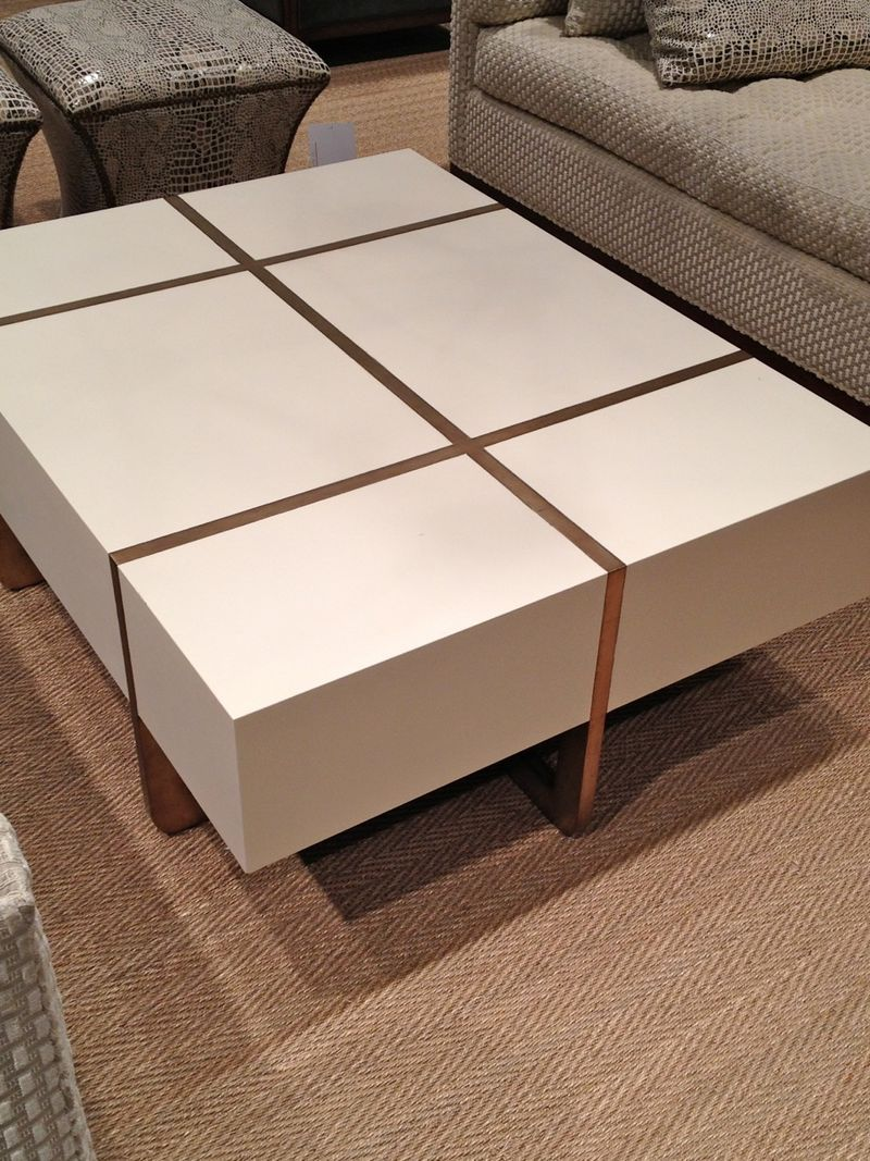 High Point Furniture Market Fall Part Pearson Furniture - Leather covered coffee table