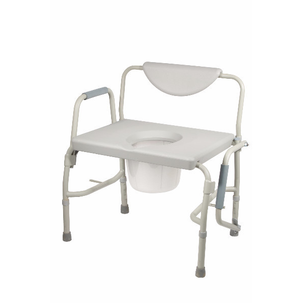 Deluxe Bariatric Drop Arm Bedside Commode Chair Bedside Buy