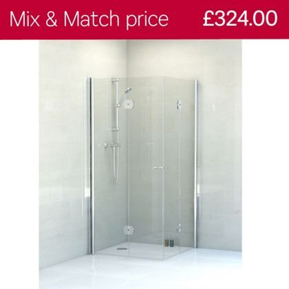 Vitale Full Access Shower Enclosure - (W)800mm - 6mm Safety Glass