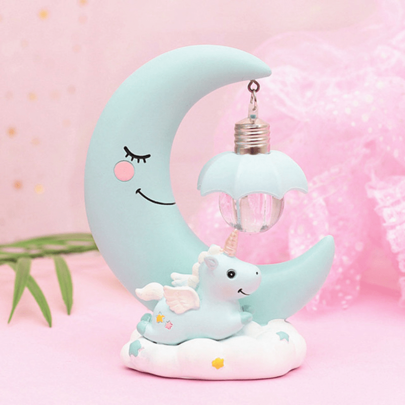 Led Table Lamp Unicorn Moon Night Light In 2020 Romantic Bedroom Decor Night Light Unicorn Lamp