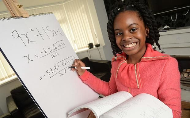 10 year old Esther Okade is enrolled in a maths degree with the Open University http://bit.ly/1DNf9un