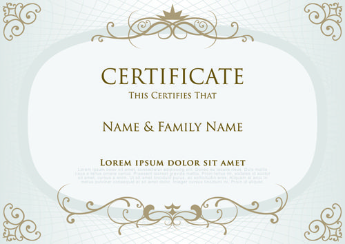 Elegant certificate template vector design 03 v Pinterest - free download certificate borders