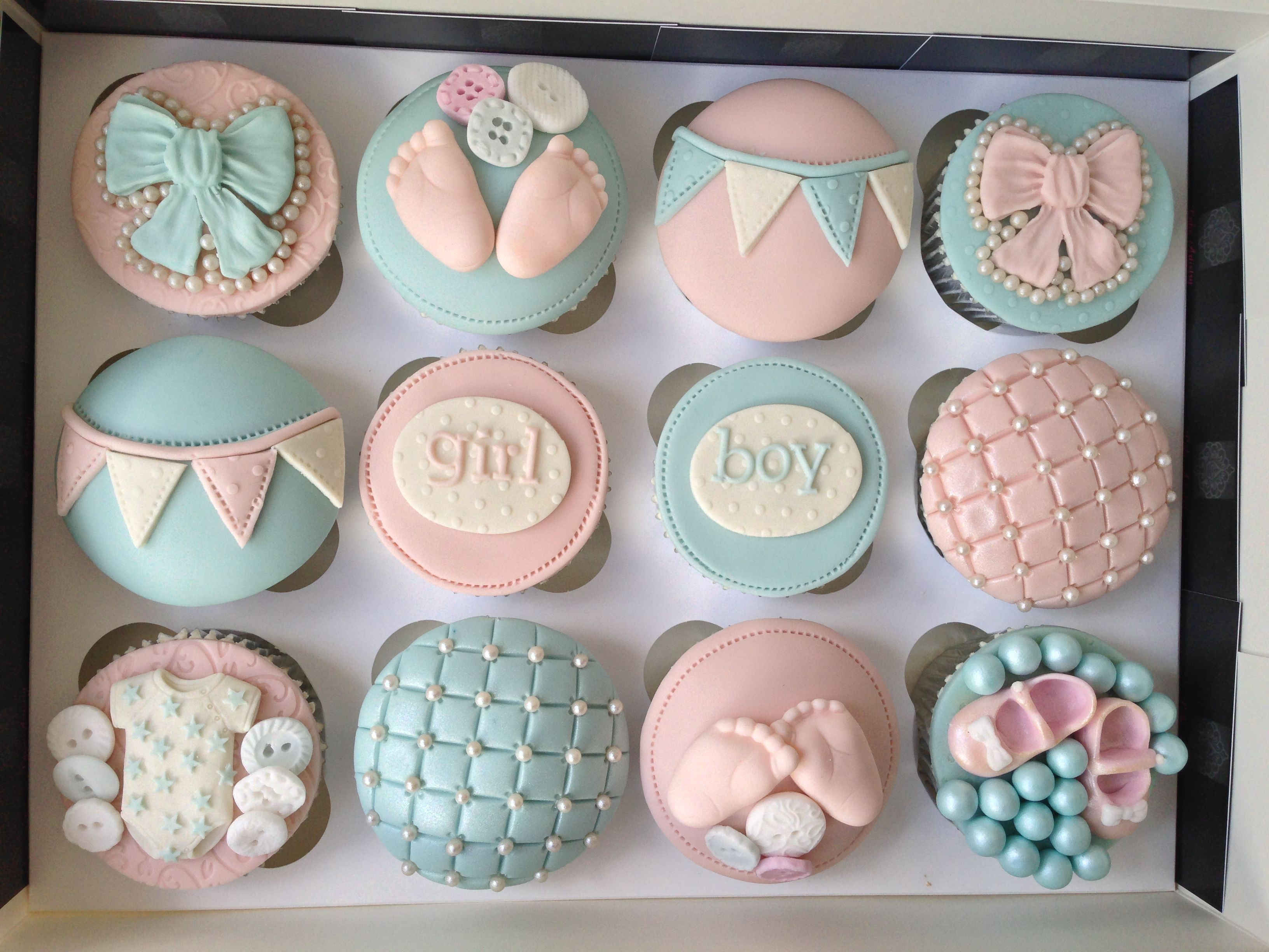 Baby shower cupcakes boy or girl baby shower cupcakes baby shower pinterest baby shower - Girl baby shower cupcake ideas ...