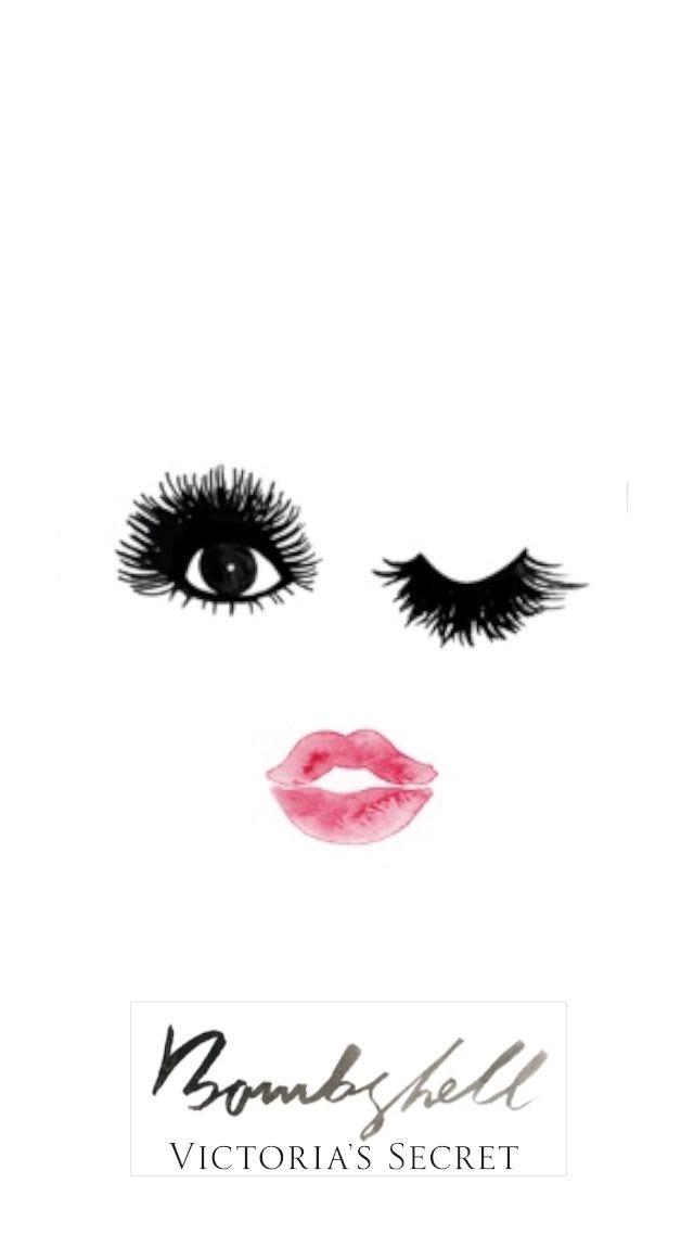Bombshell lips lashes victoria secret pink wallpaper - Pink lips wallpaper ...