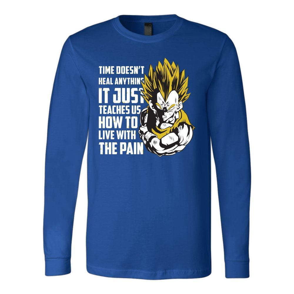 Super Saiyan - Time doesnt heal anything - Unisex Long Sleeve T Shirt - TL01324LS